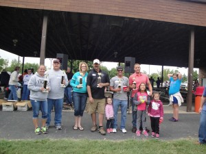 2 nd  place Donald Schultz and Jennipher 1st place Sgt. Arms Mike Reichling & Kimberly and 3rd place John and Leon Ayres and children